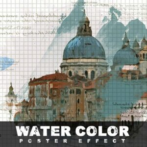Water Color Poster Efeect Photo Template