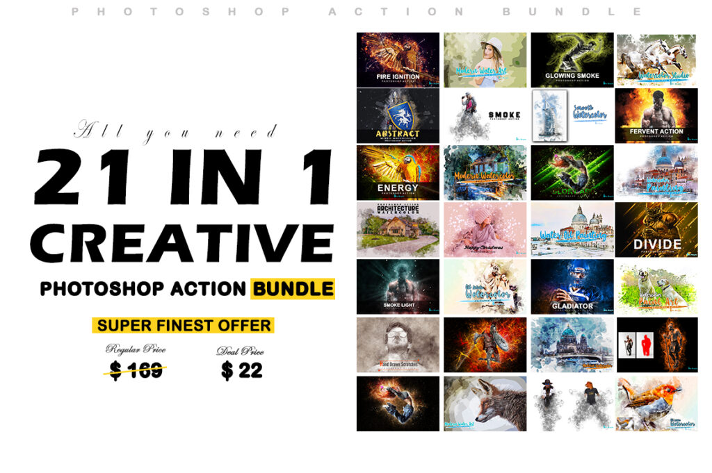 Creative Photoshop Actions Bundle