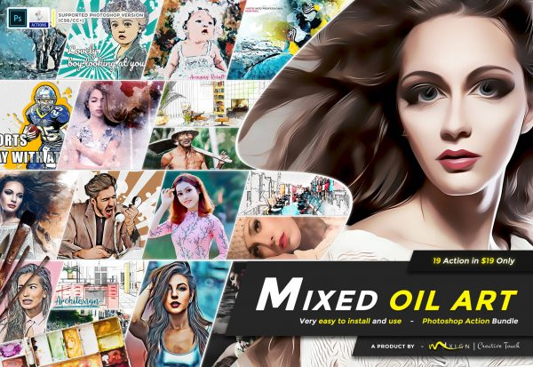 Modern Art Photoshop Actions Bundle