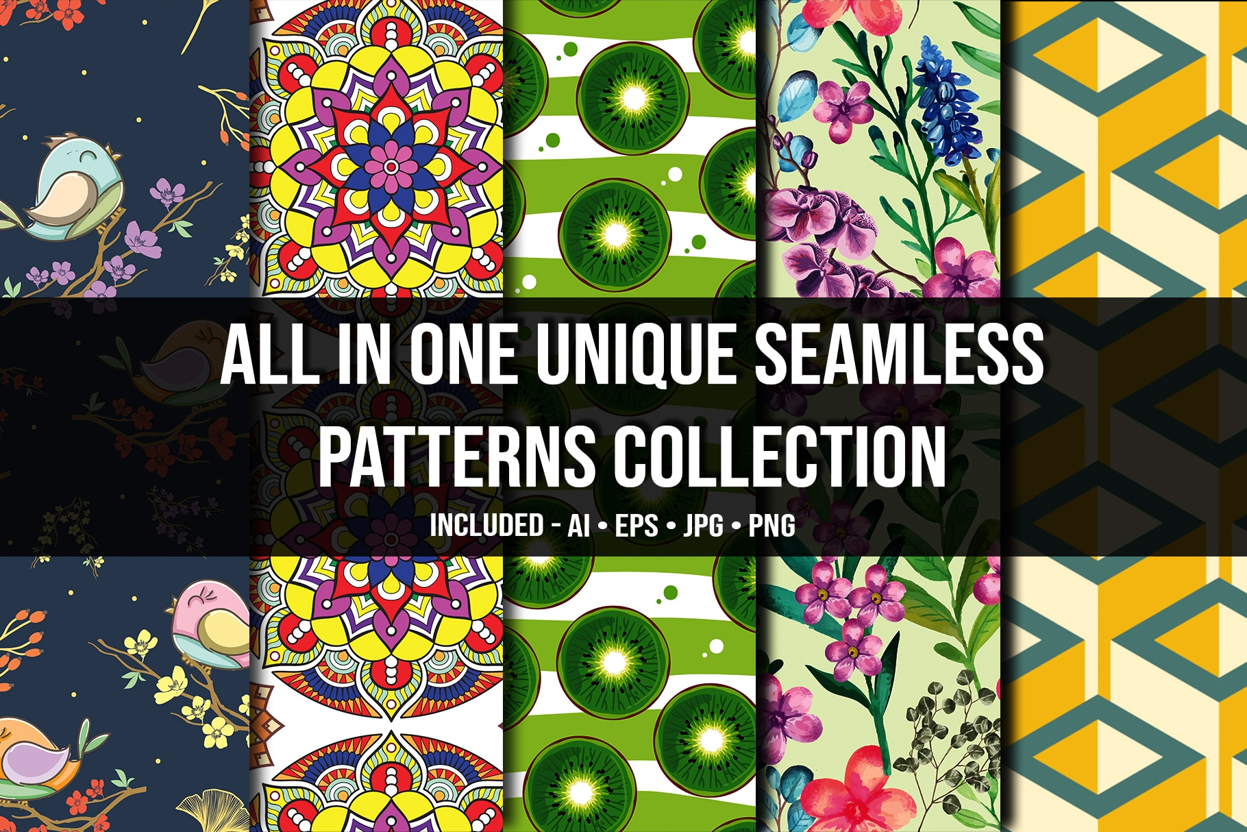 All in One Unique Seamless Patterns