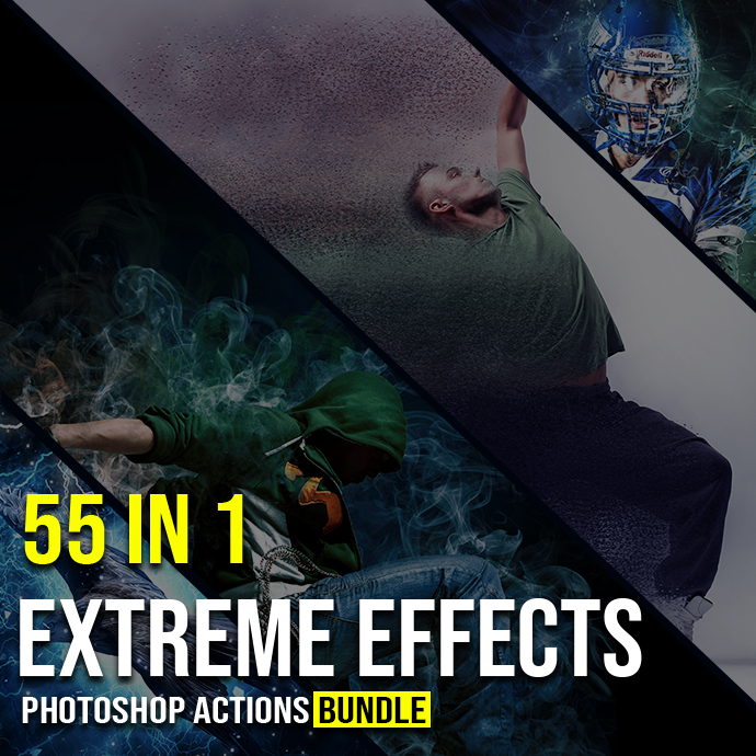 55 In 1 Extreme Effects Photoshop Actions Bundle
