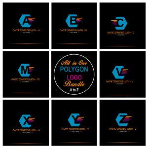 All in One Polygon Logo Bundle