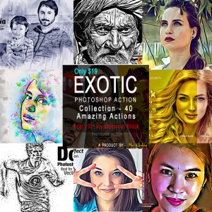 The Exotic Photoshop Action Collection - 40 Amazing Actions