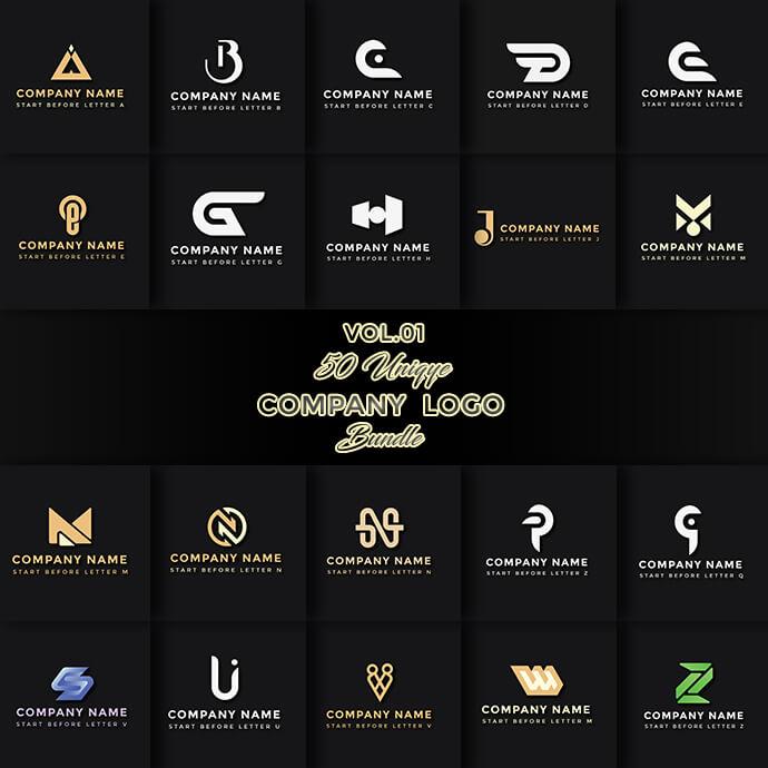 50 Unique Company Logo Bundle (VOL.1)