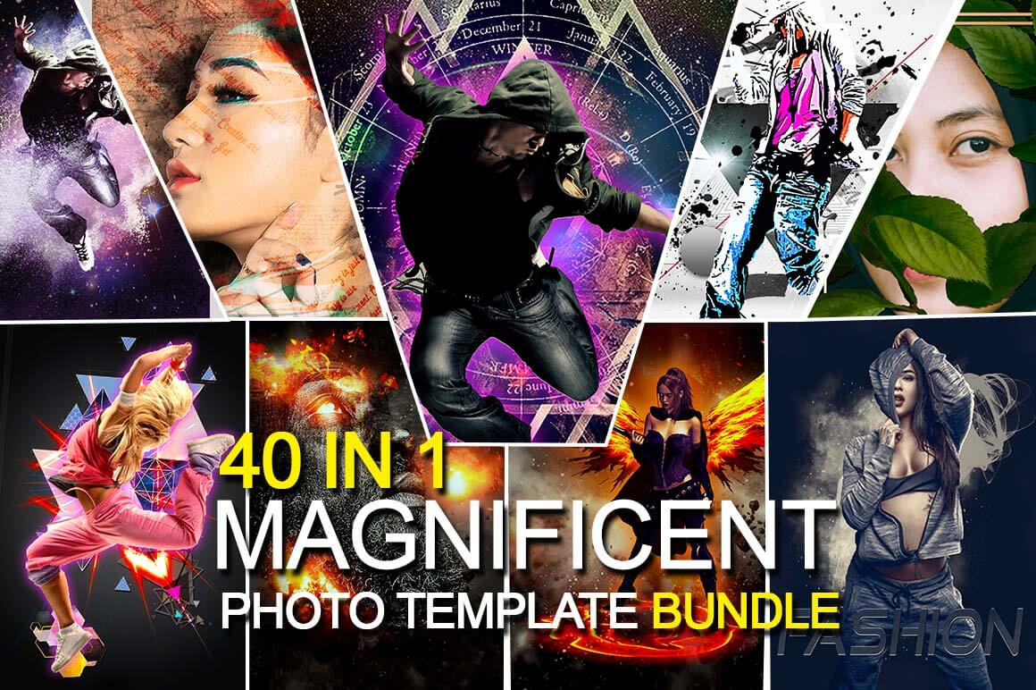 40 In 1 Magnificent Photo Template Bundle