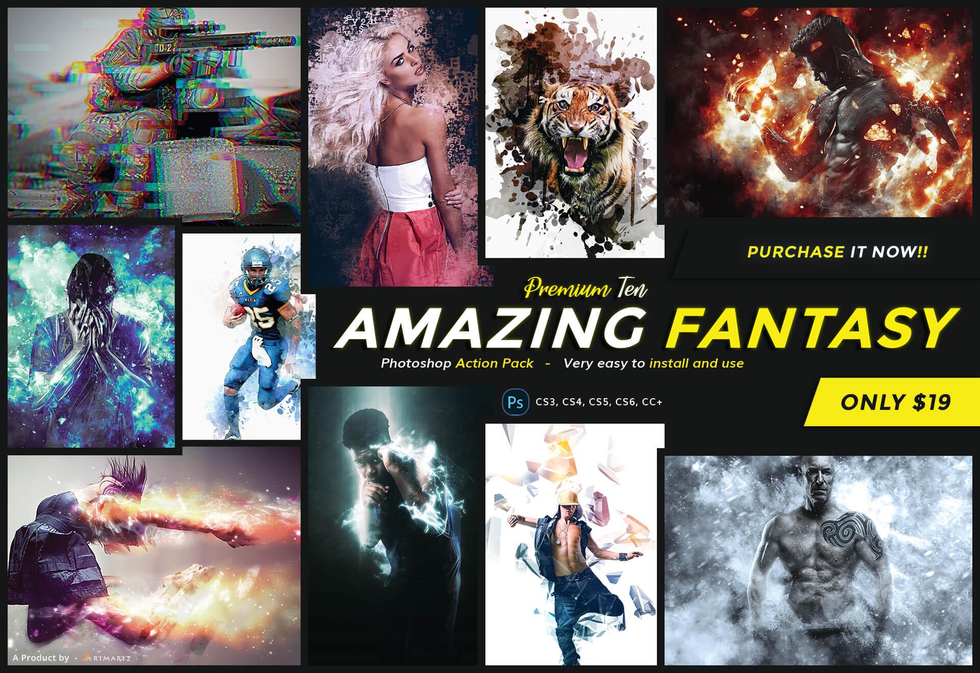 Amazing Fantasy Photoshop Action Pack