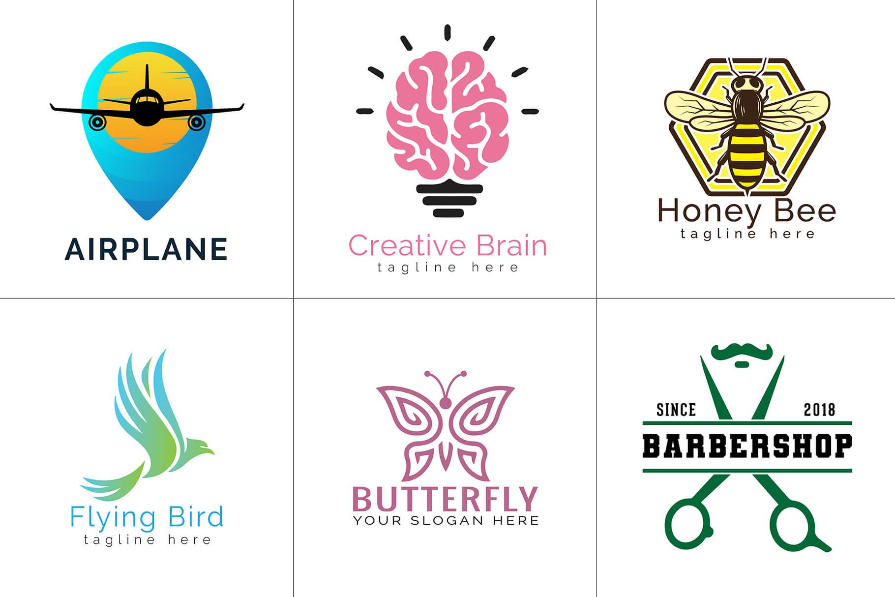500+ Editable Mega Logos Bundle