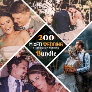 200 Mixed Wedding Photoshop Actions