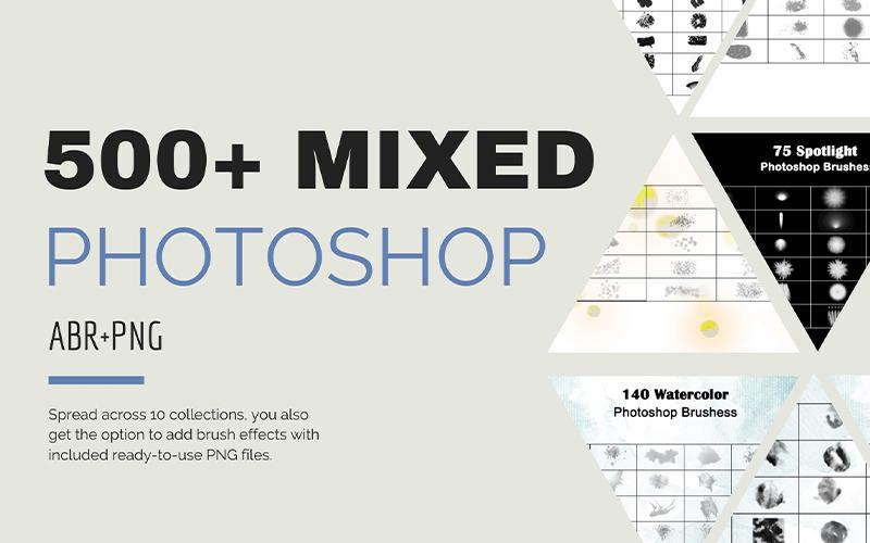 500+ Mixed Essential Photoshop Brushes Bundle
