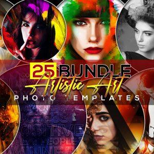 25 Artistic Art Photo Templates Bundle