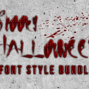 18 In 1 Spooky Halloween Font Style Bundle